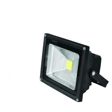 Прожектор EUROELECTRIC LED COB черный 30W 6500K classic (LED-FL-30(black))