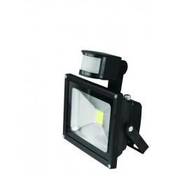 Прожектор EUROELECTRIC LED COB  с датчиком движения 10W 6500K (LED-FL-10(sensor))