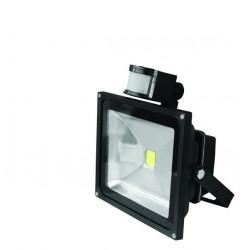 Прожектор EUROELECTRIC LED COB с датчиком движения 20W 6500K (LED-FL-20(sensor))