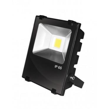 Прожектор EUROELECTRIC LED COB  черный с радиатором 10W 6500K modern (LED-FLR-COB-10)