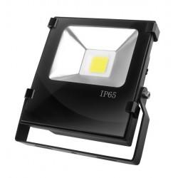 Прожектор EUROELECTRIC LED COB черный с радиатором 20W 6500K modern (LED-FLR-COB-20)