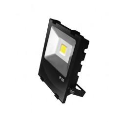 Прожектор EUROELECTRIC LED COB черный с радиатором 50W 6500K modern (LED-FLR-COB-50)