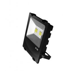 Прожектор EUROELECTRIC LED COB черный с радиатором 100W 6500K modern (LED-FLR-COB-100)