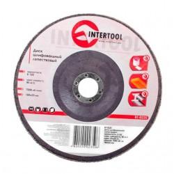 Диск шлифовальный лепестковый 180x22 мм, зерно K150 INTERTOOL BT-0235